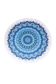 Riah Fashion Blue-Abstract Beach Towel - Product Mini Image