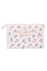 Riah Fashion Blue Rose Cosmetic Bag - Front cropped