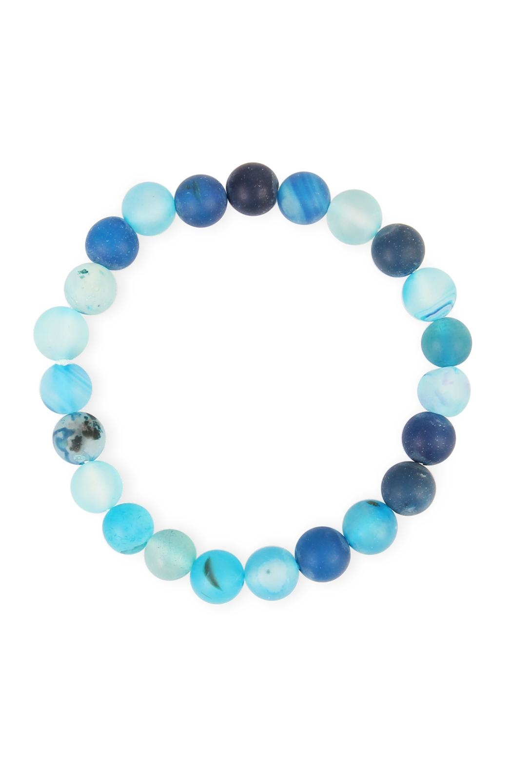 Riah Fashion Blue Zircon Beaded-Bracelet - Main Image
