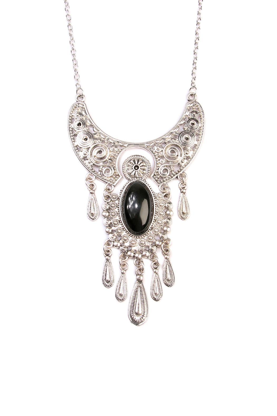 Riah Fashion Bohemain Statement Necklace - Front Full Image