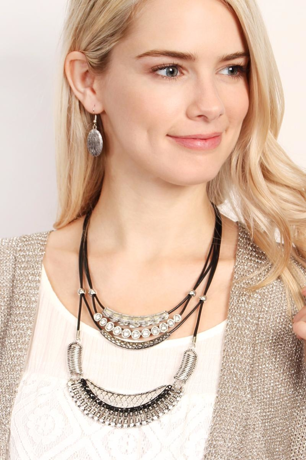 Riah Fashion Bohemian-Aztec-Necklace & Earring-Set - Front Full Image