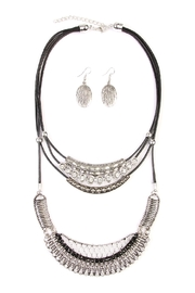 Riah Fashion Bohemian-Aztec-Necklace & Earring-Set - Front cropped