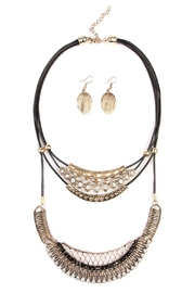 Riah Fashion Bohemian-Aztec-Necklace & Earring-Set - Product Mini Image