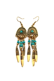 Riah Fashion Bohemian Dangling Earrings - Product Mini Image