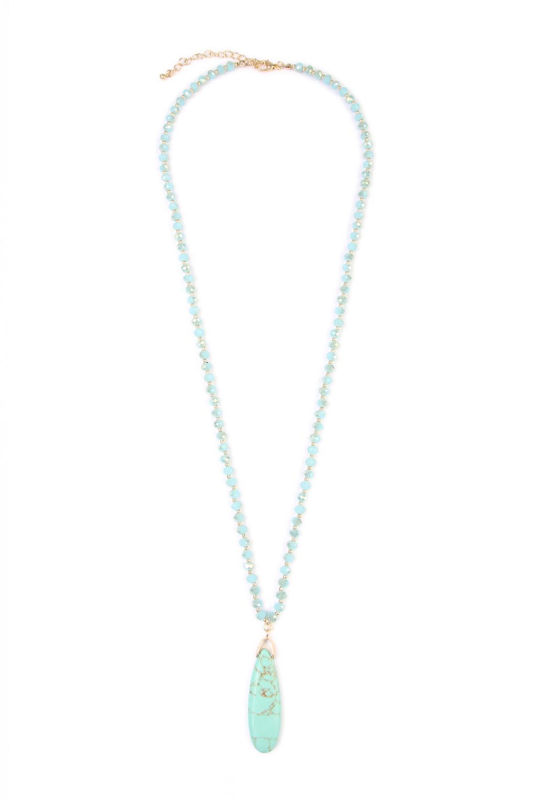 Riah Fashion Bohemian Flare Necklace - Front Cropped Image
