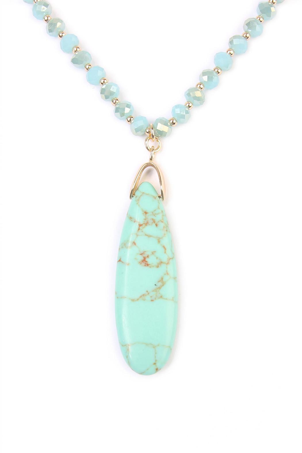 Riah Fashion Bohemian Flare Necklace - Front Full Image