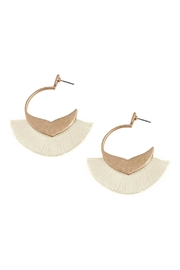 Riah Fashion Bohemian Inspired Tassel Hoop Earrings - Product Mini Image