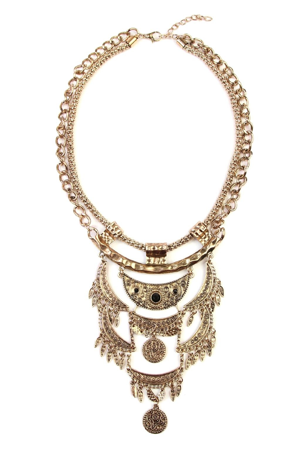 Riah Fashion Bohemian Necklaces - Front Cropped Image