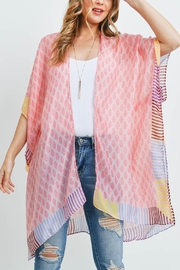 Riah Fashion Bohemian-Style-Ombre-Leaves Kimono - Product Mini Image