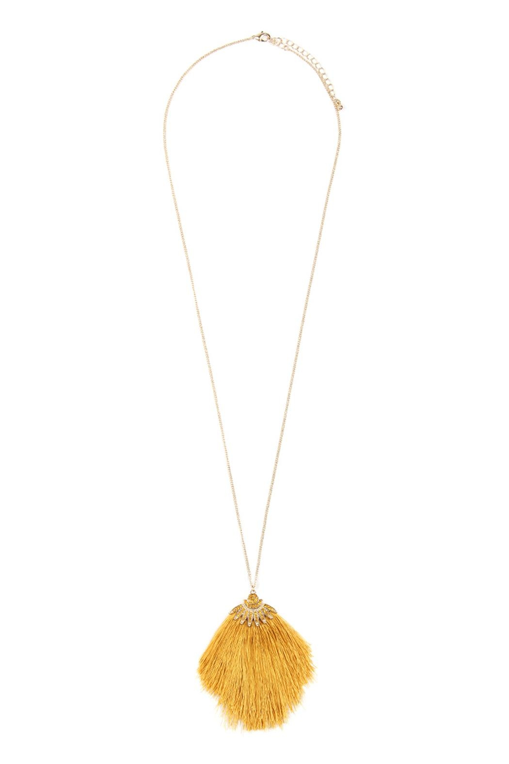 Riah Fashion Boho-Inspired Tassel-Necklace - Front Cropped Image