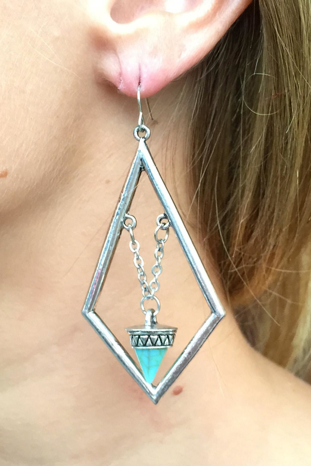 Riah Fashion Boho Statement Earrings - Side Cropped Image