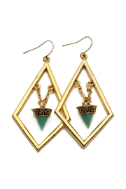 Riah Fashion Boho Statement Earrings - Product Mini Image
