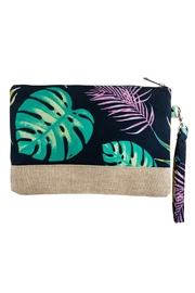 Riah Fashion Botanical Printed Wristlet Bag - Product Mini Image