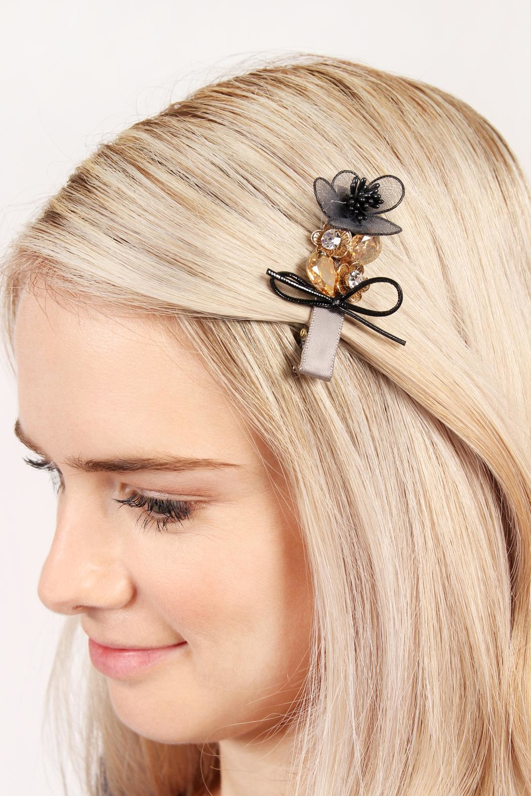 Riah Fashion Bow-&-Flower Hair Pin - Side Cropped Image