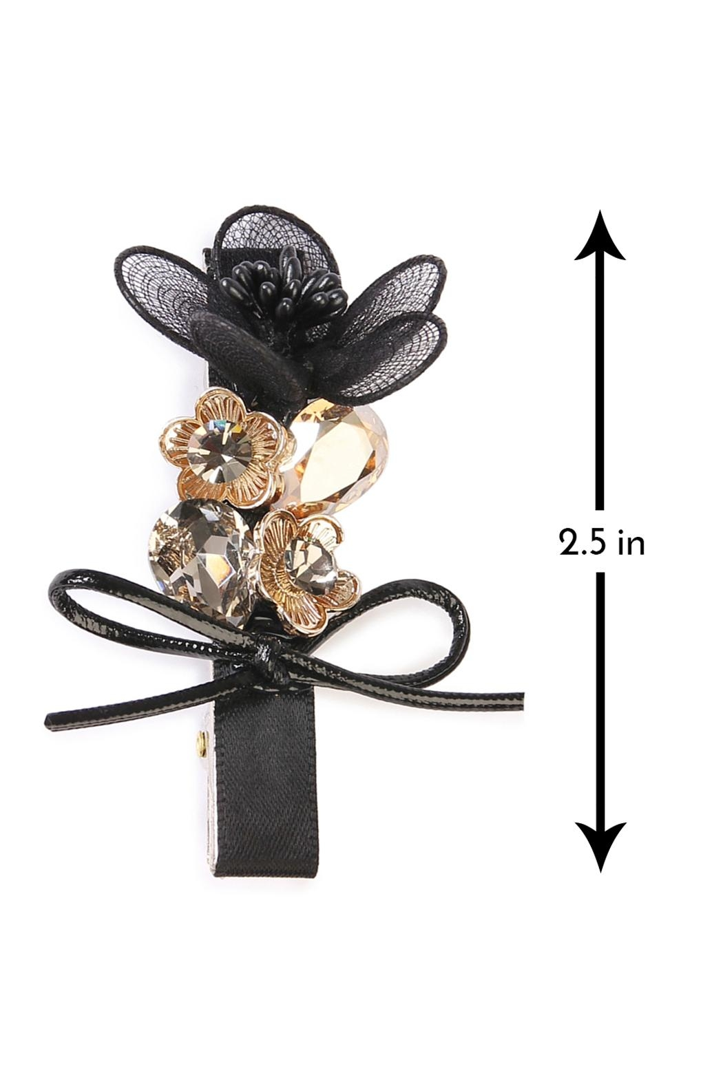 Riah Fashion Bow-&-Flower Hair Pin - Front Full Image