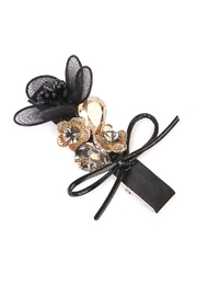Riah Fashion Bow-&-Flower Hair Pin - Product Mini Image