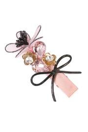 Riah Fashion Bow-&-Flower Hair Pin - Front cropped