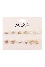 Riah Fashion Bow Stud Set - Product Mini Image