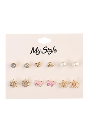 Riah Fashion Bow Stud Set - Front cropped