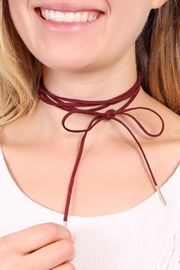 Riah Fashion Bow Wrapping Choker - Front full body