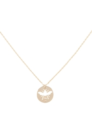 Riah Fashion Brass-Bee-Cutout-Coin-Pendant-Necklace - Product Mini Image