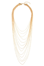 Riah Fashion Brass Metal Layered Necklace - Front cropped