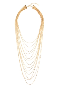 Riah Fashion Metal Filigree Layered Necklace - Product List Image