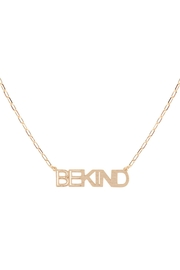 Riah Fashion Brass-Pendant-Necklace - Front cropped