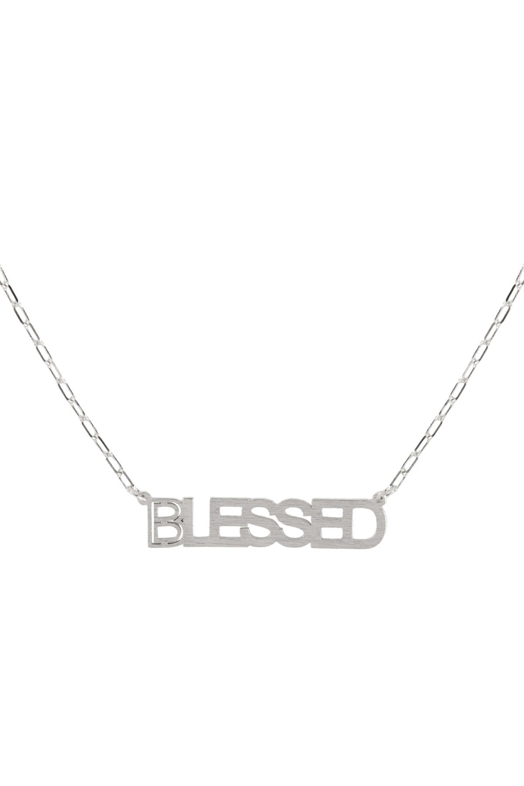 Riah Fashion Brass-Pendant-Necklace - Front Cropped Image