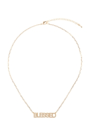 Riah Fashion Brass-Pendant-Necklace - Front full body