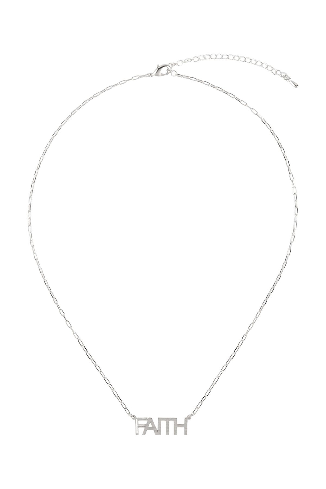 Riah Fashion Brass-Pendant-Necklace - Front Full Image