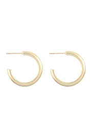 Riah Fashion Brass Post Hoop-Earrings - Product Mini Image