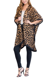 Riah Fashion Brown Leopard Open Front - Front full body