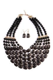 Riah Fashion Bubble Bib Necklace - Product Mini Image