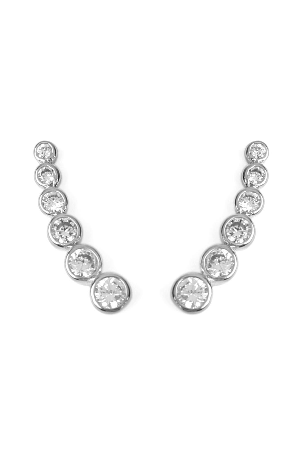 Riah Fashion Bubble Earring Crawlers - Front Cropped Image