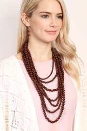 Riah Fashion Bubble-Strand Necklace Set - Front full body