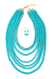 Riah Fashion Bubble-Strand Necklace Set - Front cropped