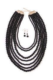 Riah Fashion Bubble Strand Necklace Set - Product Mini Image