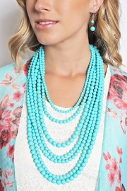 Riah Fashion Bubble Strand Necklace Set - Front full body