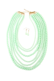 Riah Fashion Bubble Strand Necklace Set - Front cropped