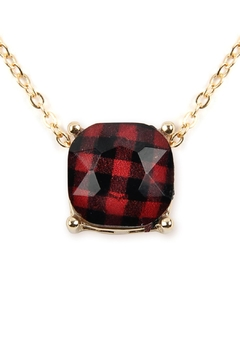 Shoptiques Product: Buffalo Checkered-Chain-Necklace