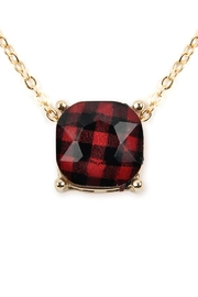 Riah Fashion Buffalo Checkered-Chain-Necklace - Product Mini Image