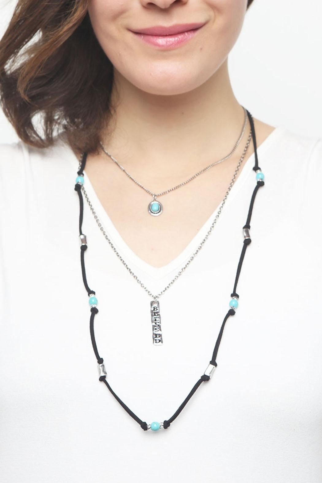 Riah Fashion Burnish Blessed Necklace - Side Cropped Image