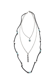 Riah Fashion Burnish Blessed Necklace - Front cropped