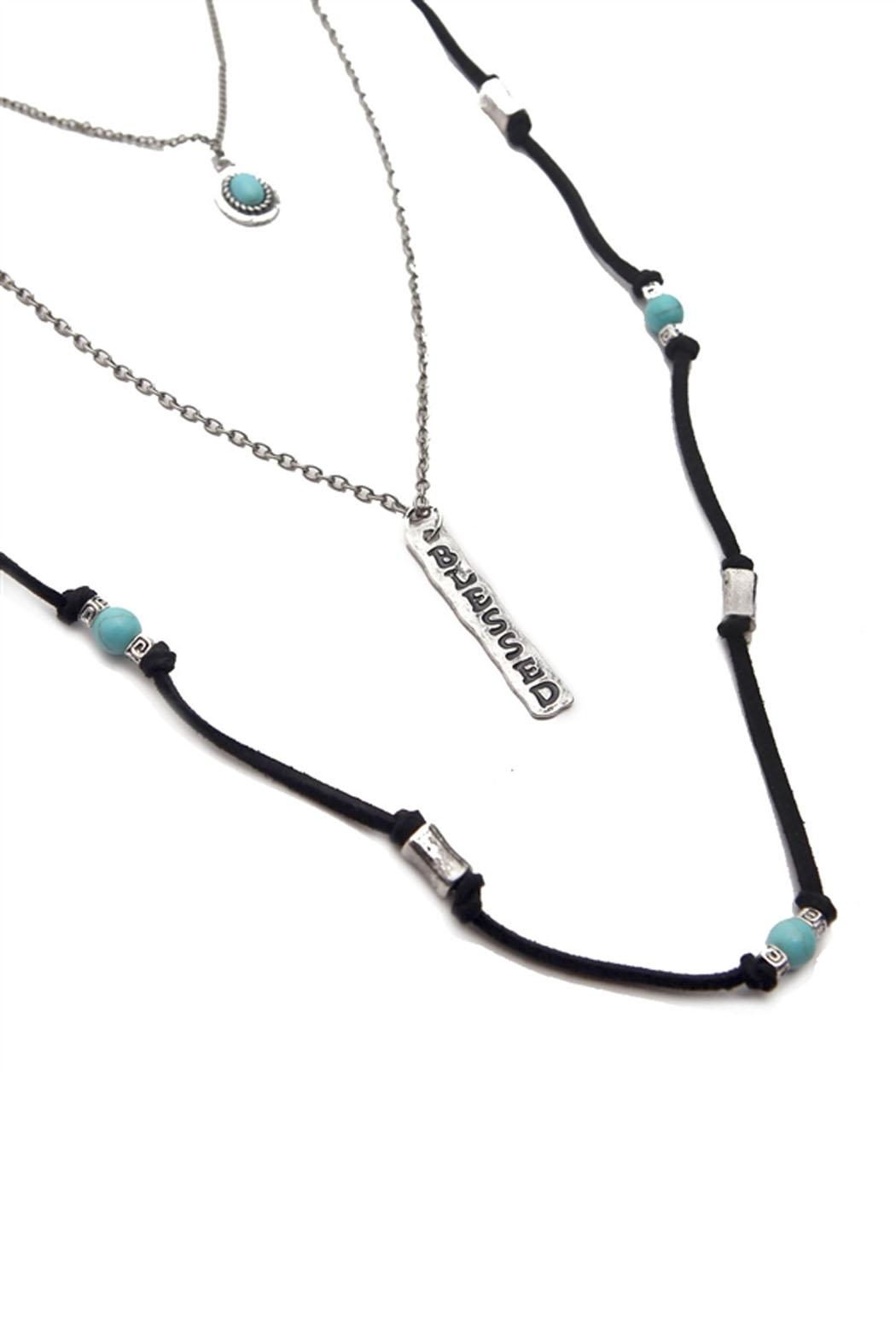 Riah Fashion Burnish Blessed Necklace - Front Full Image