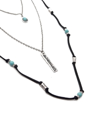 Riah Fashion Burnish Blessed Necklace - Front full body