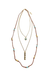 Riah Fashion Burnish Blessed Necklace - Product Mini Image