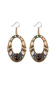 Riah Fashion Burnish Multi-Tone Earrings - Product Mini Image