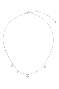 Riah Fashion Butterfl- And-Cubic-Zirconia-Station-Necklace - Product List Image
