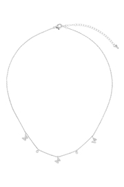 Riah Fashion Butterfl- And-Cubic-Zirconia-Station-Necklace - Product Mini Image